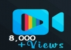 Get insta8000 real fast video or TV views within few minutes