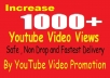 non drop 1000 Youtube Video Promotion and Marketing