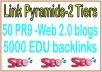 50 PR9 -High Web 2.0 blogs SEO Backlinks & 5000 EDU backlinks For Your Website Power Your Tier 2 Lin