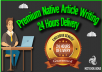 Premium Native Writing Service For Articles Blog Posts and Website Content