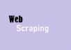 I will write script to crawl/scrap data from any website