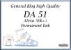 Backlinks permanent DA 51 dofollow site google news aproved High Quality