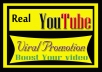 Do Real Organic YouTube Video Promotion