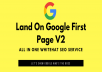 Land on Google 1st page with High DA Web2.0 Backlinks v2