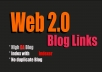 Build 20+ High Quality Web2.0 Blogs high DA+30