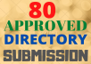 I will Submit Live 80 Approved Effective Directory Submission backlinks