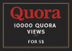 10K Quora Views - I'll provide 10000 Quora Answer Views. 10K Views