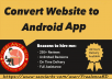 Convert Website,Blog,E-commence Site,YouTube Chanel,Facebook Page To Android App