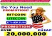 BITCOIN SEO Services PROMOTION -PROMOTE ALL Cryptocurrency Offer On Social Media Over 50 MILLION