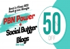 Natural SEO - 7 PBN DA 30+ Homepage Backlinks Plus 10 DA90+ Power Blogs