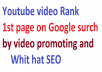 Boost Your Youtube video rank in 1st page by YT all service via real user