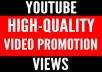 Youtube video promotion - Worldwide