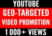 Geo-targeted Youtube video promotion