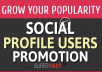 Add Social Profile Users Fast and High Quality Service