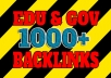 Get 1000+ EDU and GOV high authority backlinks