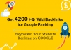 Get you 4200 HQ. Wiki Backlinks for Google Ranking