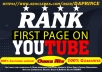 GUARANTEE YOUTUBE FIRST PAGE WITH POWERFUL SEO PACKAGE 100% GUARANTEED RANKING (1 TO 3 WEEKS)