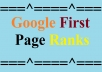 GOOGLE FIRST PAGE RANK WITHIN THREE WEEKS