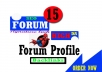 Create high DA 15 FORUM Profile Backlinks
