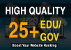 Add 25+ Edu/Gov High Quality Profile Backlinks within a day