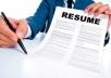 Professional resume writing CV writing service