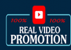 Organic high quality video promotion