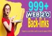 999+ Web 2.0 High-Quality Back-links For SEO