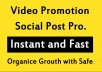 Social Video Views Promotion and Marketing
