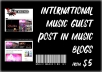 Music Guest Post on Music Blogs (International)