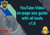 YouTube video on-page SEO guide with PDF