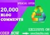 20,000 GSA Blog Comments Backlinks for Google SEO