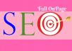 Do Professional full Onpage SEO For Google Rank