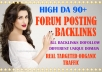 15 Niche Keyword Related Forum Posting Links With High Da Forum Backlinks