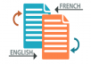 Best professional translator 400 words article from english to french and vice versa