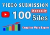 60 manual Video submission to TOP Video sharing Sites to get high natural traffic for life
