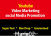 Super Fast YouTube Video / Social Marketing and Promotion Guarantee 1000