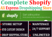 I will create pro shopify dropshipping store, shopify store, shopify website
