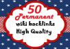 Permanent 50 wiki backlinks For Google SEO Rankings