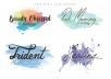 Design a watercolor signature logo