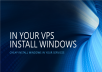 Cheap Install Windows in your vps or Dedicated Server