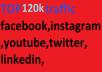 120k,boost website keyword real organic targeted web traffic, facebook, instagram, youtube, twitter