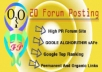submit 50 different forum posting on any forum site