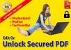 Edit Or Unlock Secured PDF Document