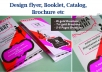 Do Creative Flyer Brochure Leaflet Catalogue or any Design