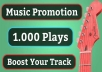 Bring 1,000 Real Spotify Streams For Your Music Track