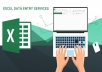 Provide Offline/Online Excel Data Entry Services