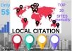 20 Local Citations Manually For Your Local Business Listing