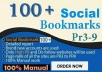 Do 100 HQ Social Bookmarks Backlinks With DA-PA-TF,100-40 for your Website, Keyword and Youtube