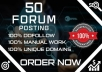 Provide 50 forum posting backlinks on high DA PA