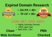 I Will Build Best Expired Domain Research